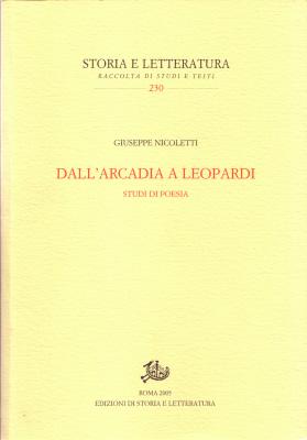copertina di Dall'Arcadia a Leopardi