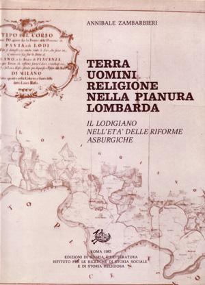 copertina di Terra uomini religione nella pianura lombarda