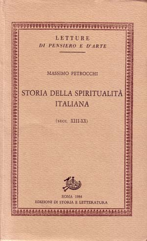 copertina di Storia della spiritualità italiana