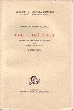 copertina di Pages inédites