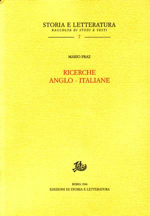 copertina di Ricerche anglo-italiane