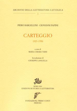 copertina di Carteggio