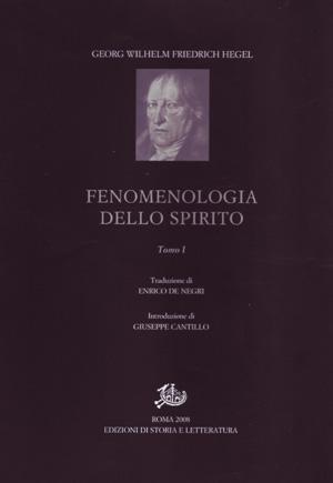 copertina di Fenomenologia dello spirito. I