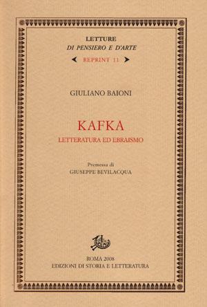 copertina di Kafka: letteratura ed ebraismo