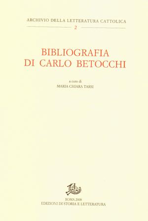 copertina di Bibliografia di Carlo Betocchi