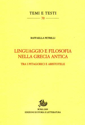 copertina di Linguaggio e filosofia nella Grecia antica