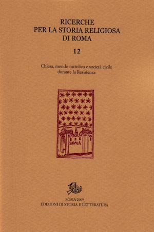 copertina di Ricerche per la storia religiosa di Roma 12