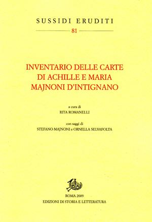 copertina di Inventario delle carte di Achille e Maria Majnoni d'Intignano