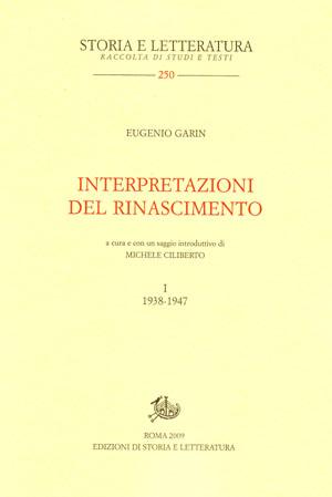 copertina di Interpretazioni del Rinascimento