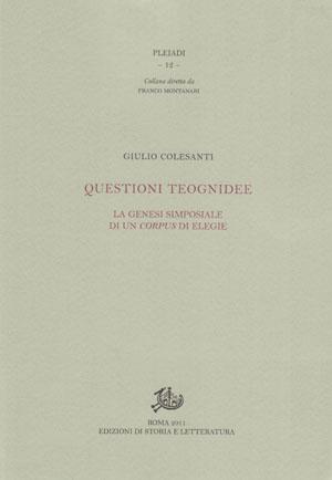copertina di Questioni teognidee