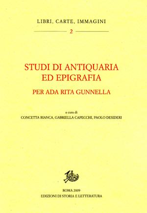copertina di Studi di antiquaria ed epigrafia