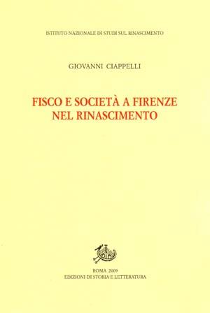 copertina di Fisco e società a Firenze nel Rinascimento