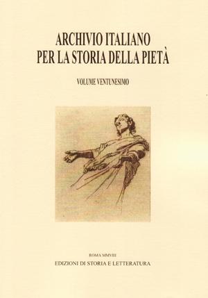 copertina di Archivio italiano per la storia della pietà, xxi