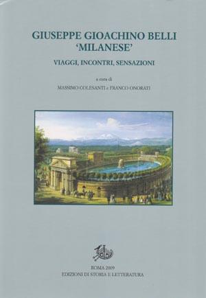 copertina di Giuseppe Gioachino Belli 'milanese'