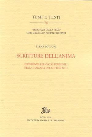 copertina di Scritture dell'anima