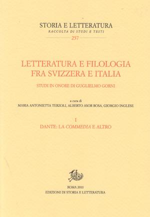 copertina di Letteratura e filologia fra Svizzera e Italia. I