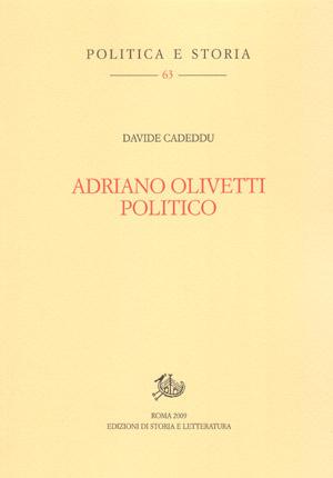 copertina di Adriano Olivetti politico