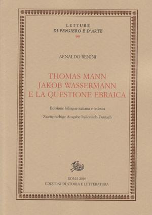 copertina di Thomas Mann, Jakob Wassermann e la questione ebraica