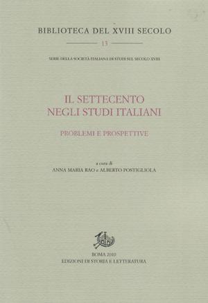 copertina di Il Settecento negli studi italiani