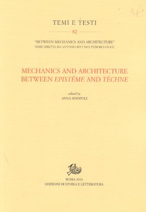 copertina di Mechanics and Architecture between Epistéme and Téchne