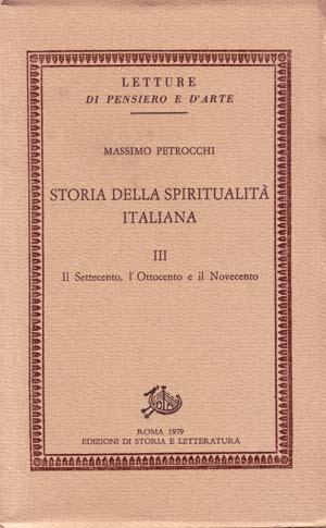 copertina di Storia della spiritualità italiana III