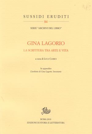 copertina di Gina Lagorio
