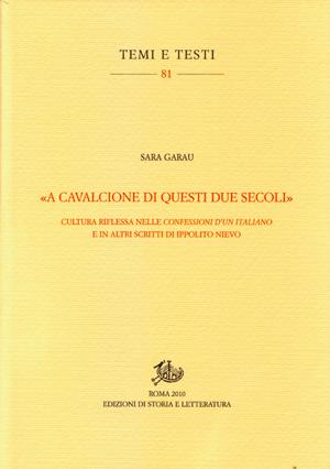 copertina di «A cavalcione di questi due secoli»