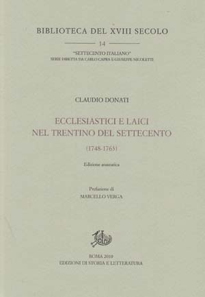 copertina di Ecclesiastici e laici nel Trentino del Settecento