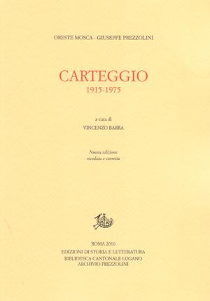 copertina di Carteggio 1915-1975