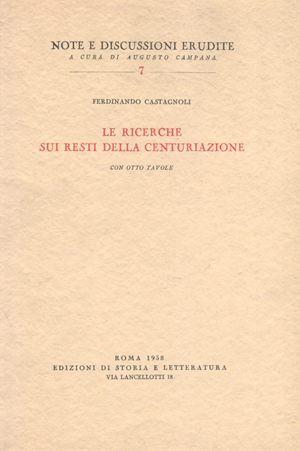 copertina di Le ricerche sui resti della centuriazione