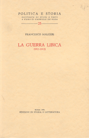 copertina di La guerra libica (1911-1912)