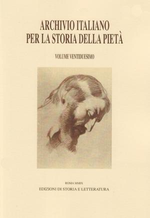 copertina di Archivio italiano per la storia della pietà, xxii