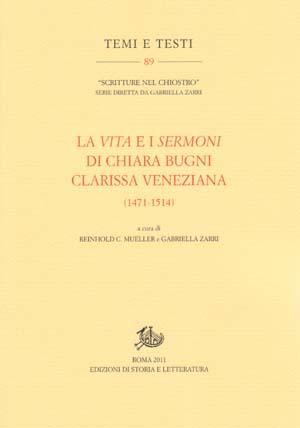 copertina di La Vita e i Sermoni di Chiara Bugni clarissa veneziana