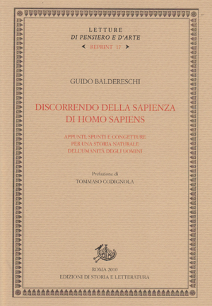 copertina di Discorrendo della sapienza di Homo sapiens