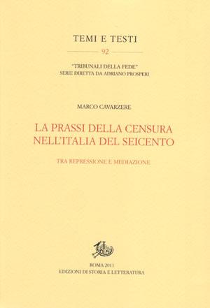 copertina di La prassi della censura nell'Italia del Seicento