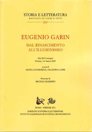 copertina di Eugenio Garin