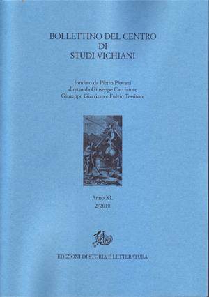 copertina di Bollettino del Centro di Studi Vichiani 40/2