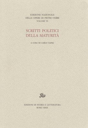 copertina di Scritti politici della maturità