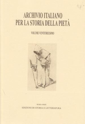 copertina di Archivio italiano per la storia della pietà, xxiii