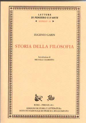 copertina di Storia della filosofia