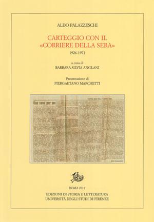 copertina di Carteggio con il «Corriere della sera»