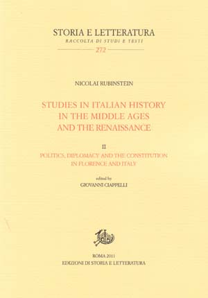 copertina di Studies in Italian History in the Middle Ages and the Renaissance. II.
