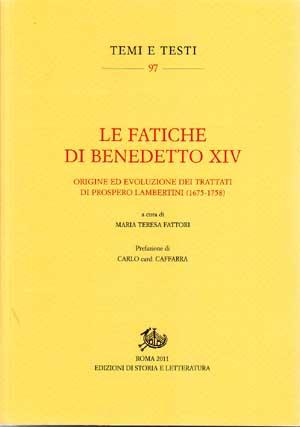 copertina di Le fatiche di Benedetto XIV