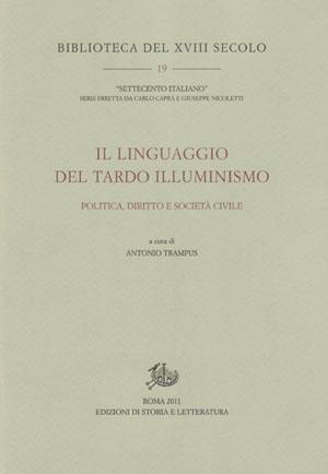 copertina di Il linguaggio del tardo Illuminismo