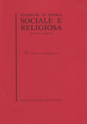 copertina di Ricerche di storia sociale e religiosa, 78
