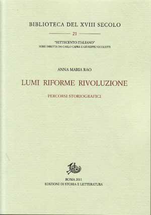 copertina di Lumi Riforme Rivoluzione