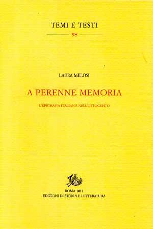 copertina di A perenne memoria