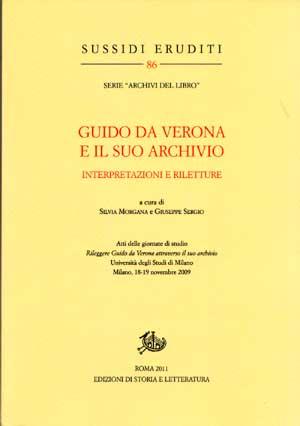 copertina di Guido da Verona e il suo archivio