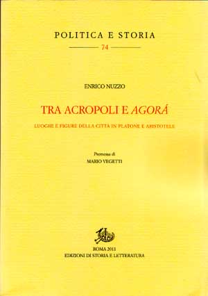 copertina di Tra acropoli e agorà
