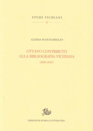 copertina di Ottavo contributo alla bibliografia vichiana